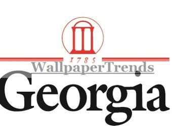 5 Inch 1785 University of Georgia Logo Bulldogs UGA Removable Wall Decal Sticker Art NCAA Home Room Decor 5 by 3 Inches