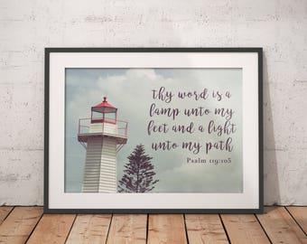 Psalm 119:105 Print - Digital Download