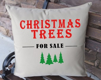 KHAKI colored OUTDOOR Christmas tree for sale pine trees pillow cover only