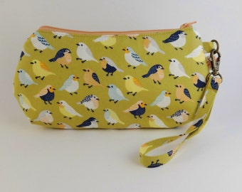 Bitty Birdies - Birds Handbag - Iphone Case - Teacher Gift - Toiletry Bag