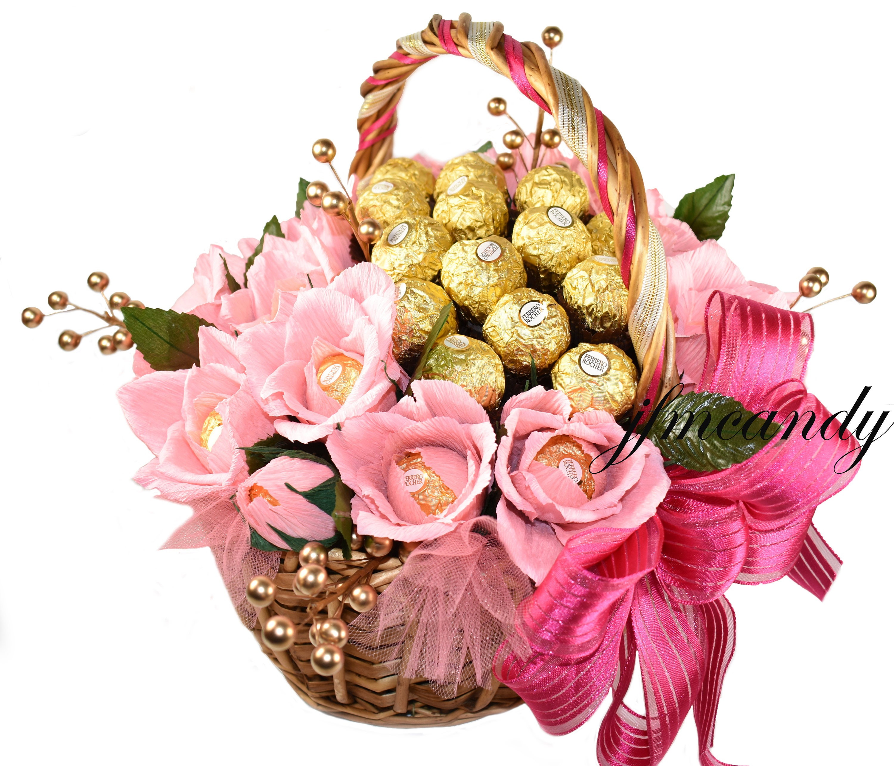 Lovely gift candy bouquet ferrero rocher chocolate flower zoom izmirmasajfo