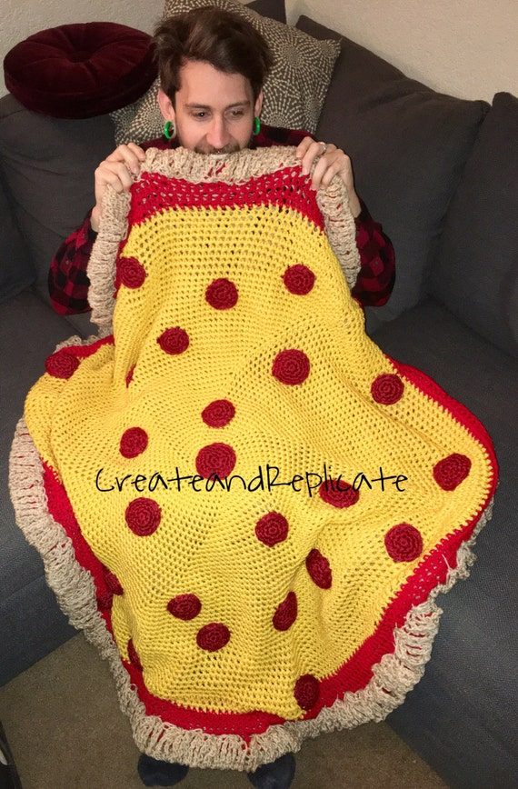 Crocheted Pizza Blanket