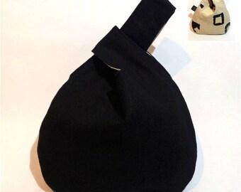 Sac à Noeud / Knot Bag Japonais reversible à porter au poignet