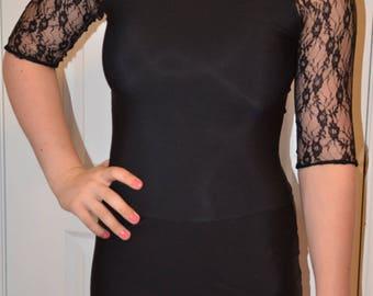 Black Practice Dress for Figure Skaters