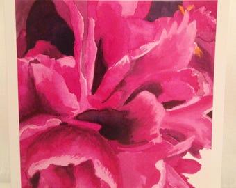 Hot Pink Peony print