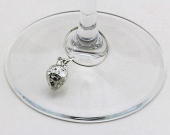 Fruit Strawberry - Wine Glass Charm