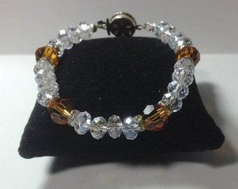Topaz and Clear Crystal Bracelet