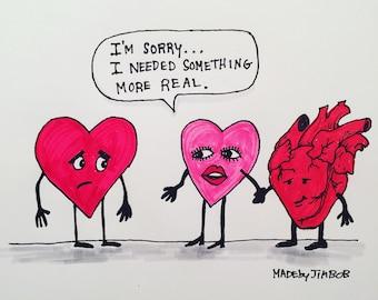 "Heart Break Up | 8x10"" Print | Made by Jimbob Original Art"