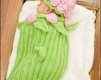 Rose Cocoon Crochet Pattern pdf 120B