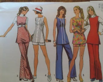 Simplicity 5069, size 10, pants, shorts and tunic, UNCUT sewing pattern, craft supplies