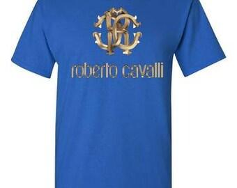 Roberto Cavalli Royal Blue T-Shirt