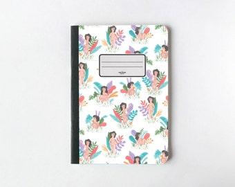 Nus pages Ladies Notebook - pages vierges : Journal - carnet de croquis - - doublé
