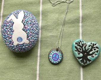 Peace Rock necklace