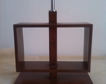 Wooden Lamp/An oblong  wooden table  lamp