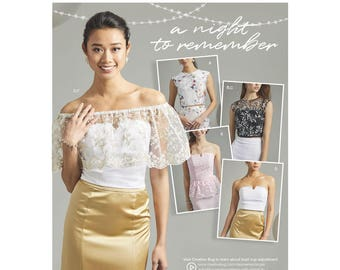 Simplicity Sewing Pattern 8598 Misses' and Women's Special Occasion Tops