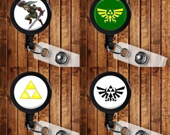 Zelda Badge Reel ID Holder Link Triforce