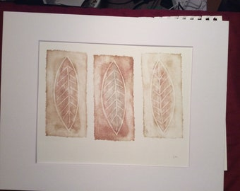 3 Leaves | Original Hand Pulled Print