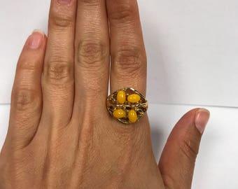 Sarah Coventry Honey Berries Ring