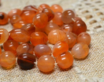 Carnelian Natural Gemstone Beads Small Nugget 16 Inches Strand 10 - 15mm