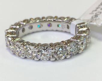3.24ct diamonds- 14k white gold eternity band