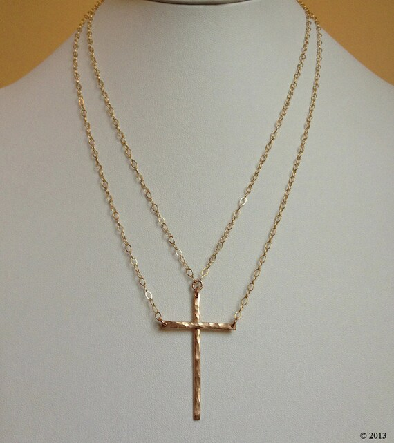 "Original ""Be Still""™ two-piece Cross Necklace in Gold"