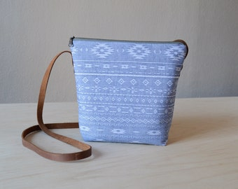 Shoulder Bag in Mesa Chambray - Cross Body Purse