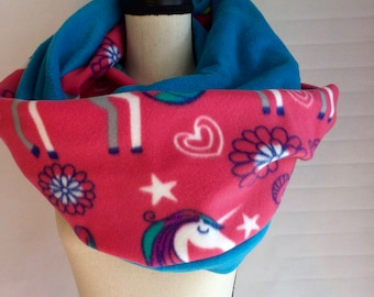 Unicorn Infinity Scarf - Pink, Blue, and Purple- Rainbow - Floral