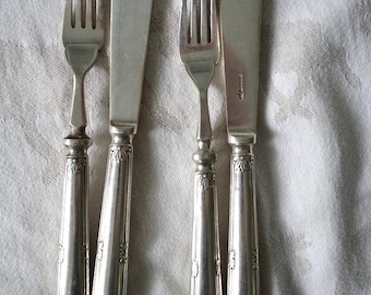 Vintage silver plated fish cutlery-food styling & Photography Prop Ref: FPS013