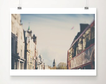 London photograph big ben photograph red london bus photograph London decor London print London art red bus print big ben print
