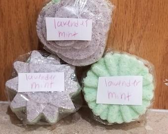 All natural lavender mint bath bomb