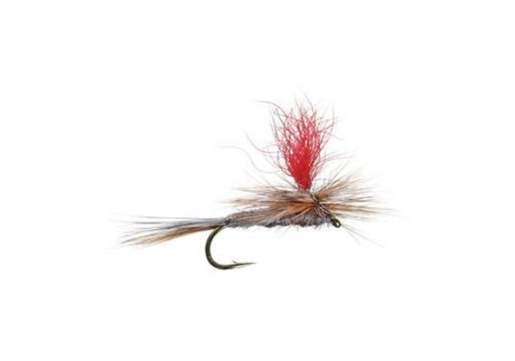 High Visibility Adams Parachute Classic Dry Fly - Hook Size 16 - Hand-Tied Fly Fishing Trout Flies