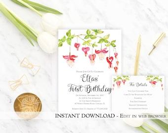 girls birthday party invite template