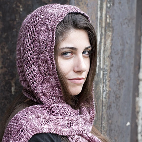 Lady ediths hooded scarf knit pattern pdf dt1010fo