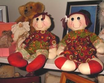 Cloth Dolls handmade Bertie & Bess
