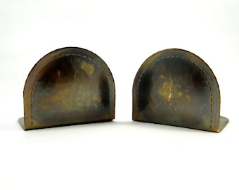 Antique Roycroft Bookends, Arts and Crafts Movement, 1910