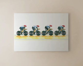 Team GB Men's Cycling Pursuit Team, London 2012 Olympics CANVAS PRINT