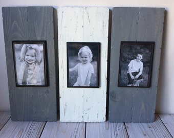 Rustic Picture Frame Set - Rustic Home Decor - Rustic Wall Decor  - Wood Picture Frame - 4x6 Picture Frame - Wood Picture Frame - Wall Decor