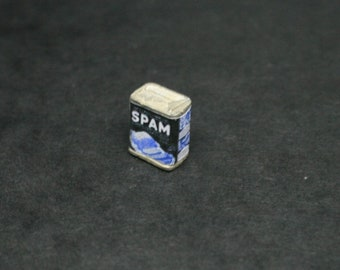 WW2 Spam Tin ~ Dolls House Kitchen ~ Miniature Packaging ~ Miniature Shop - 12th Scale