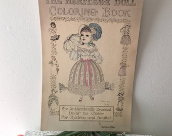 Vintage Red Farm Studio Large Doll Coloring Book
