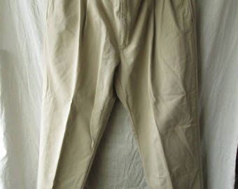 Polo by Ralph Lauren Polo Chino Hammond Pant Mens Cotton Beige Pants Trousers Tag Size 40 X 30 Used