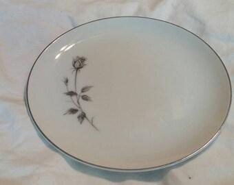 On Sale Kessington Fine China 7.5 inch Dessert/Salad Plate with Enchanting Rose with Platinum Rim