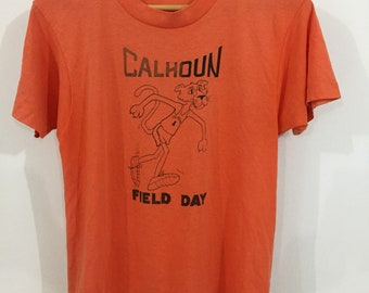 80s Calhoun Field Day Paperthin Pink Phanter Shirt Medium