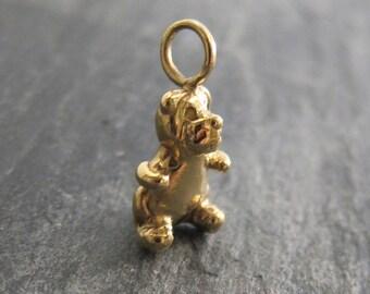 Teddy bear pendant designed by Stephane de Blaye , reclaimed bronze, pendentive, charm.