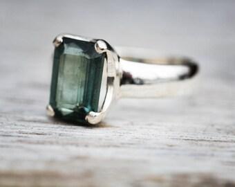 Indicolite Tourmaline Ring 7.5 - Blue Tourmaline Ring - Indicolite Tourmaline Ring size 7.5 - Blue Indicolite Tourmaline Ring Indicolite