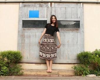 Brown skirts bohemian skirts festival skirts harem skirts Hippie skirts boho skirts Gypsy skirts Elephant skirts Thai skirts