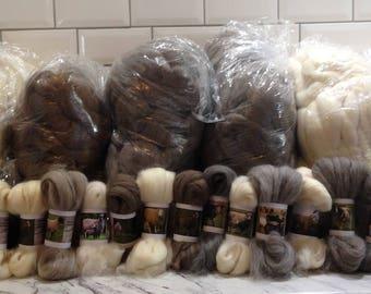 40 Sheep Breed Study Samples - Combed Top Wool Fibre - 1 kilo