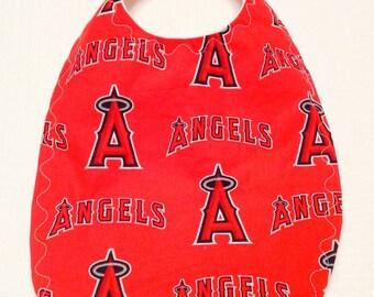 Angels Baseball Baby Bib