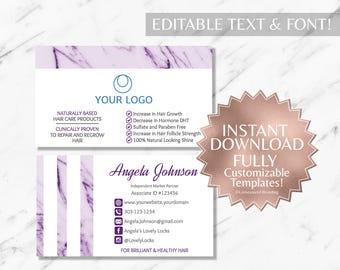 Purple Marble Salon Business Cards Monat Business Cards RF Business Cards Monat Global Marketing Monat Business Card Instant Salon Card Only