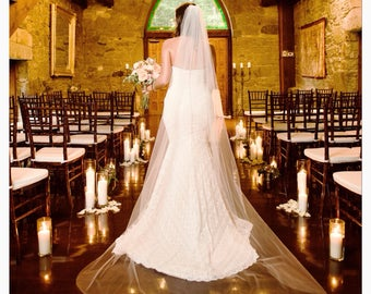 Bridal veil, wedding veil, veil, wedding ,cathedral veil, long  veil, chapel veil