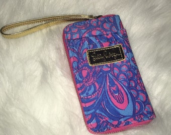 Lilly Pulitzer Inspired Wristlet